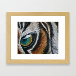 Inaction - Tiger Framed Art Print