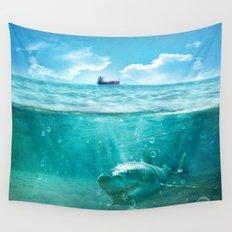 Blue Wall Tapestry