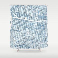Philadelphia City Map Shower Curtain