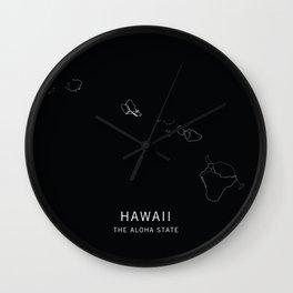 Hawaii State Road Map Wall Clock