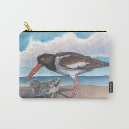 American Oystercatcher and chicks Carry-All Pouch