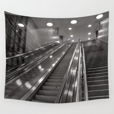 Underground station - stairs - Brandenburg Gate - Berlin Wall Tapestry