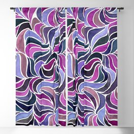 Magenta Currents Blackout Curtain