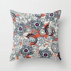 succulents orange pink star Throw Pillow