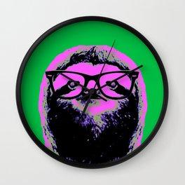 Warhol Sloth (4) Wall Clock