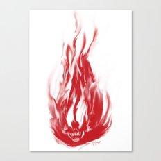 Flame Skull Canvas Print
