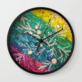 Leaves on the World Tree: Brahui Juniper Wall Clock