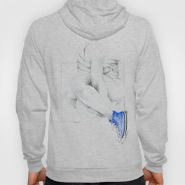 NUDEGRAFIA - 56  the girl with blue tennis shoes Hoody