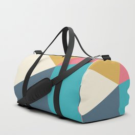 Modern abstract design with five triangles Duffle Bag