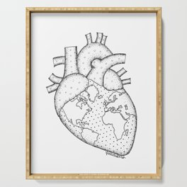 Wanderer's Heart Earth anatomy Serving Tray