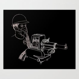 Gasmask Projector                          Art Print
