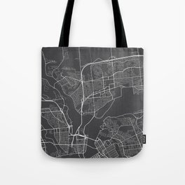 Gatineau Map, Canada - Gray Tote Bag