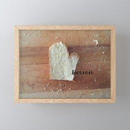 The Big D (Mitten State Series) #puremichigan Framed Mini Art Print