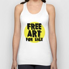 Free Art for Sale (yellow) Unisex Tank Top