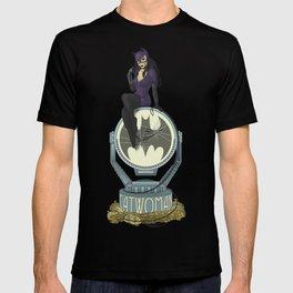 Catwoman in Art Nouveau T-shirt