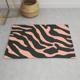 Tiger Skin Pattern Rose Bud Rug