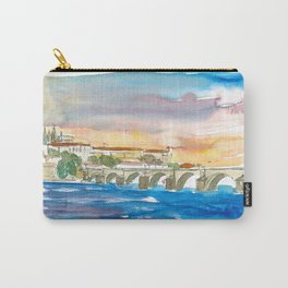 Charles Bridge And Prague Castle View with Hradcin Carry-All Pouch