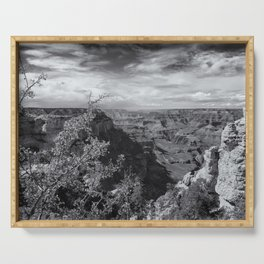Grand Canyon No. 7 bw Serving Tray