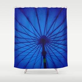 Blue Umbrella: You make me feel... Shower Curtain