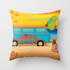 Beach Trip Throw Pillow