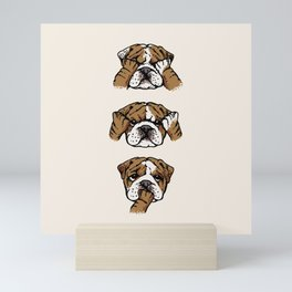 No Evil English Bulldog Mini Art Print