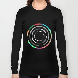 Magnetic Labyrinth #2 Astronomy Print Science Art Wall Art Long Sleeve T-shirt