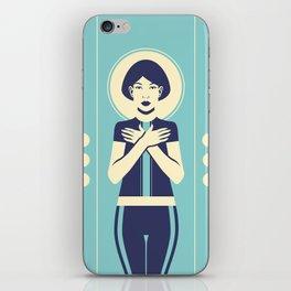 Evangeline Blue iPhone Skin