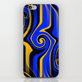 Regal Blues Abstract iPhone Skin