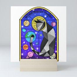 Stained Glass Cat Mini Art Print