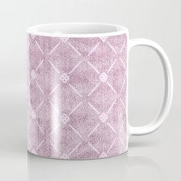 Faux Velvet Dusty Mauve Light Diamond Pattern Coffee Mug