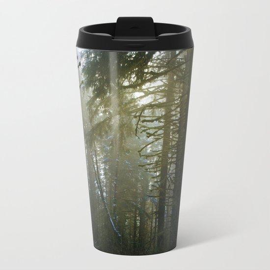 Foggy Forest #evergreen Metal Travel Mug