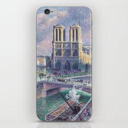 Notre-Dame de Paris by Maximilien Luce, 1900 iPhone Skin