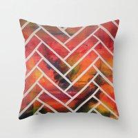 herringbone Throw Pillows featuring Herringbone by Alyssa Clancy