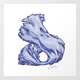 The Letter D is Dope!  Art Print