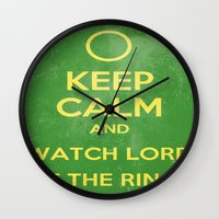 lord of the rings Wall Clocks featuring Lord of the Rings by MeMRB