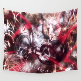 Bengal Cats of the Inner City Graffiti  Wall Tapestry