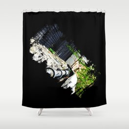 Highline in Distress Shower Curtain