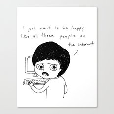 All Those People On The Internet Canvas Print
