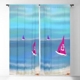 In the Pink in a Tropical Paradise Blackout Curtain