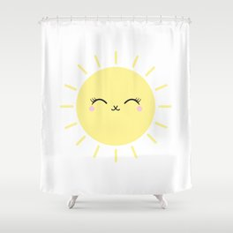 Sun Cute Eyes Shower Curtain
