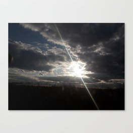 The Heavenly Sun Hiding Canvas Print