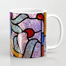 Art Nouveau Stain Glass Victorian Pastel Design Coffee Mug