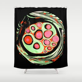 Psychedelic Circle Shower Curtain