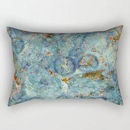 Cellular (Blue) Rectangular Pillow
