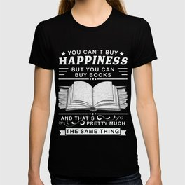 Read book, Happy, books librarian gift T-shirt