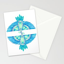 Parrot – Blue Ombré Stationery Cards