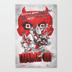 Dang it! Featuring the Cryptid Crew Canvas Print