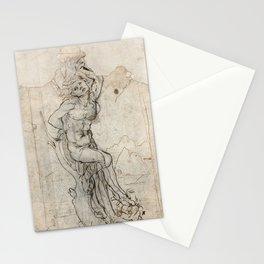 Vintage art by Leonardo Da Vinci Stationery Cards