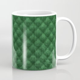 Quilted Kelly Green Velvety Pattern Coffee Mug