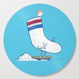 Lost Sock Skater Cutting Board